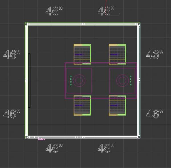 Gravitee One-Step Mobile Meeting Pod(s) | (Square/Rectangle) -- Size View