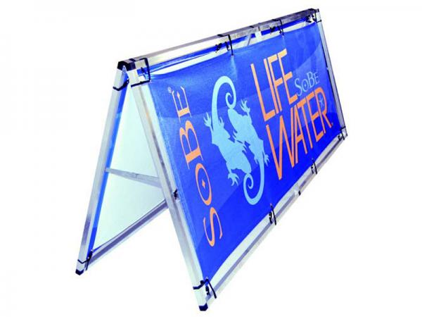 BaseLine a-frame with bungee attached fabric graphics