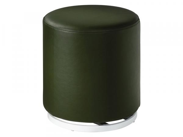 CEOT-048 (Forest Green Vinyl) | Marche Swivel Ottoman -- Trade Show Rental Furniture