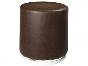 CEOT-051 (Distressed Brown Vinyl) | Marche Swivel Ottoman -- Trade Show Rental Furniture