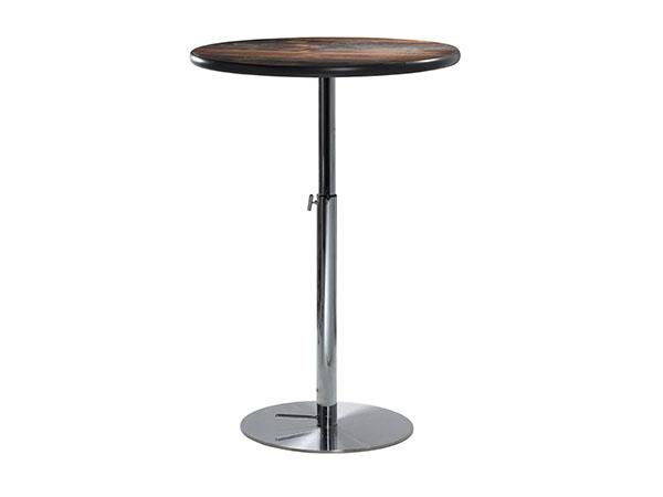 "30"" Round Bar Table w/ Standard Wood Counter Top and Silver Base