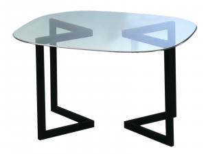 Geo Cafe Table Black -- Trade Show Rental Furniture