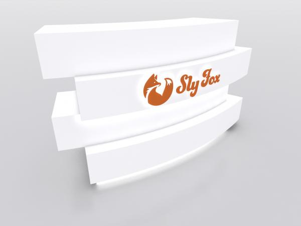 MOD-1592 Custom Trade Show Curved Reception Counter -- Image 1