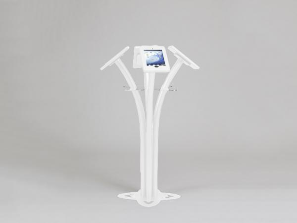 MOD-1338 Portable iPad Kiosk -- White-- Aluminum Base